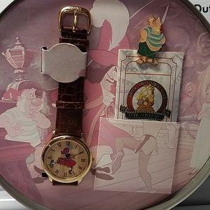 Vintage Disney Peter Pan watch and pin